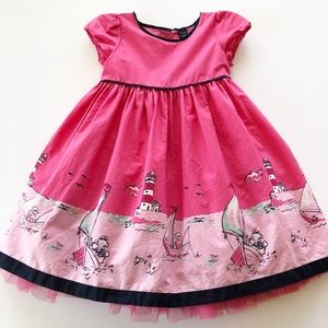 Baby Gap Pink Sailboat Party Dress Size 2 years